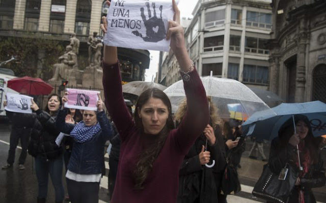 Women in Argentina protest after rape and murder of a schoolgirl