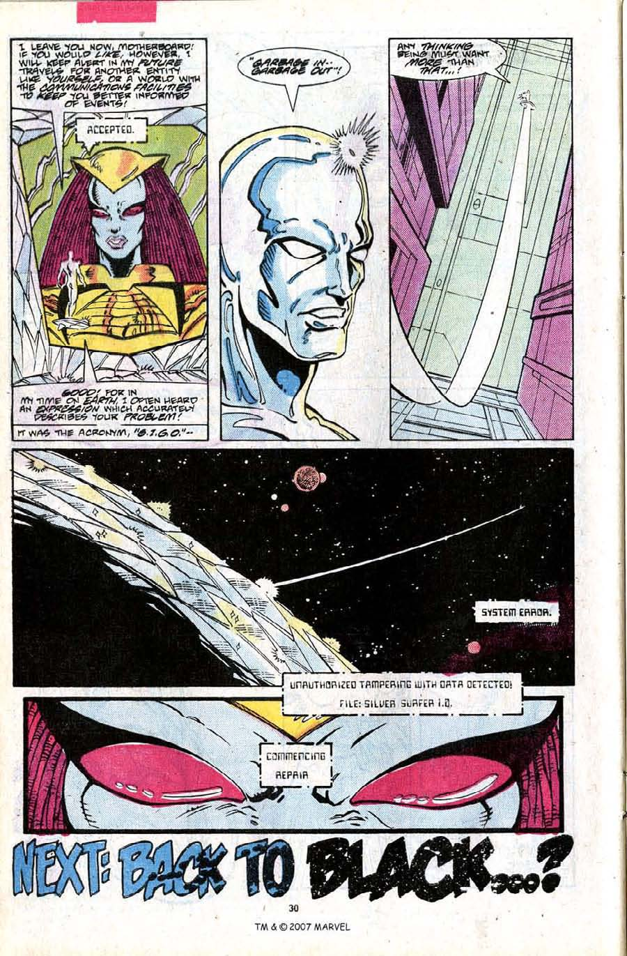 Read online Silver Surfer (1987) comic -  Issue #24 - 32