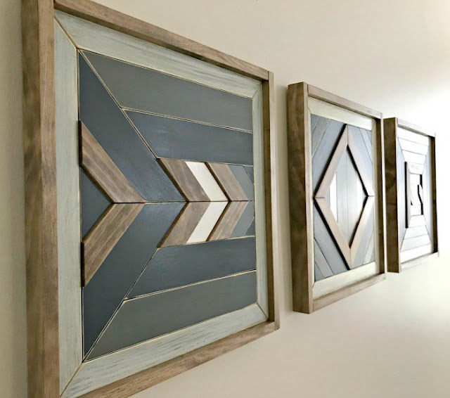 Super awesome scrap wood wall art feature