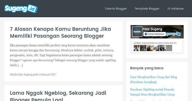 Blog Sugeng.id - Blog Bloging Bisnis Online Internet Marketing Terbaik Di Indonesia