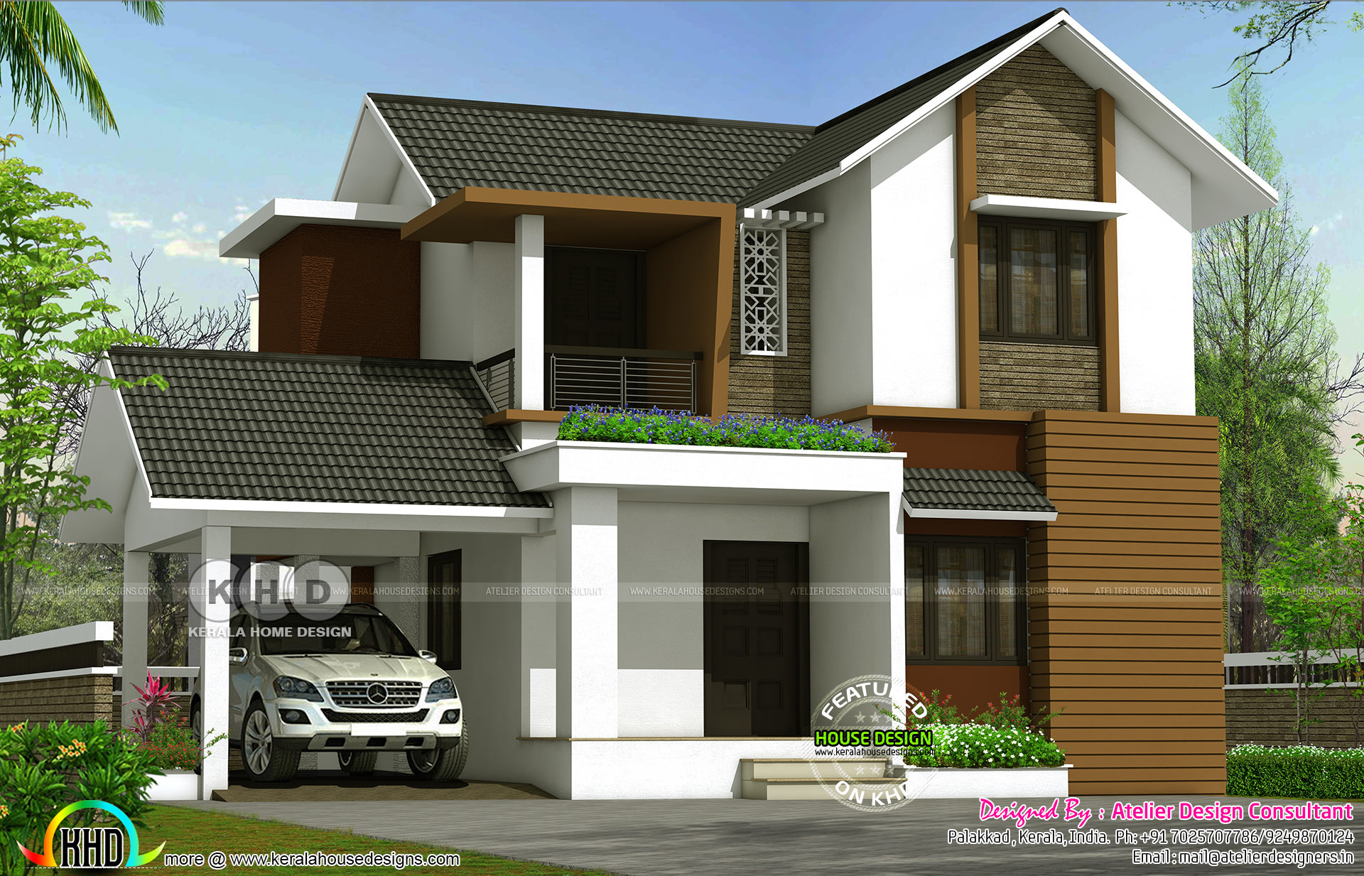 4 Bedroom Mixed Roof Home Part - 16: No. Of Bedrooms : 4. Design Style : Modern Client :Rasheed Variyathodi.  Location: Mannarkkad ,Palakkad Estimated Cost :32 Lakh* ($50,000) (AED  184,000) ...