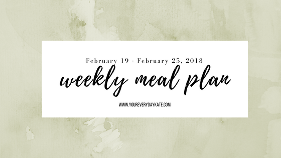 weekly meal plan february