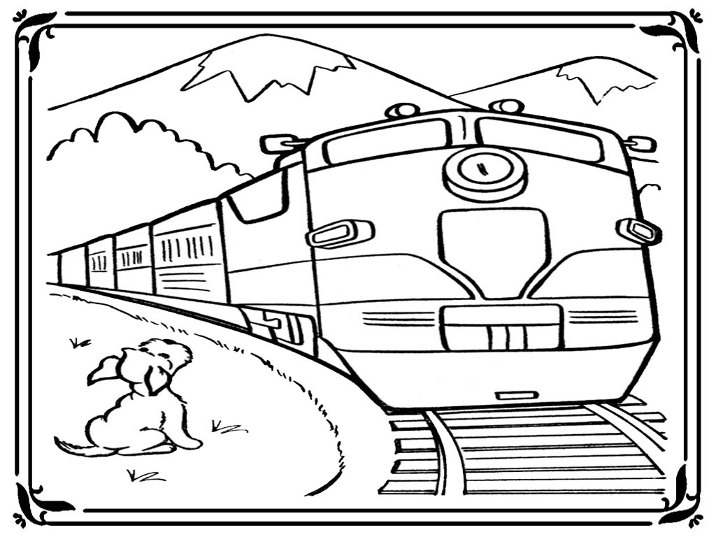 Train Engine Coloring Pages | Realistic Coloring Pages
