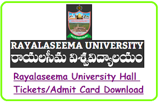 RU Kurnool UG Hall Tickets 2019