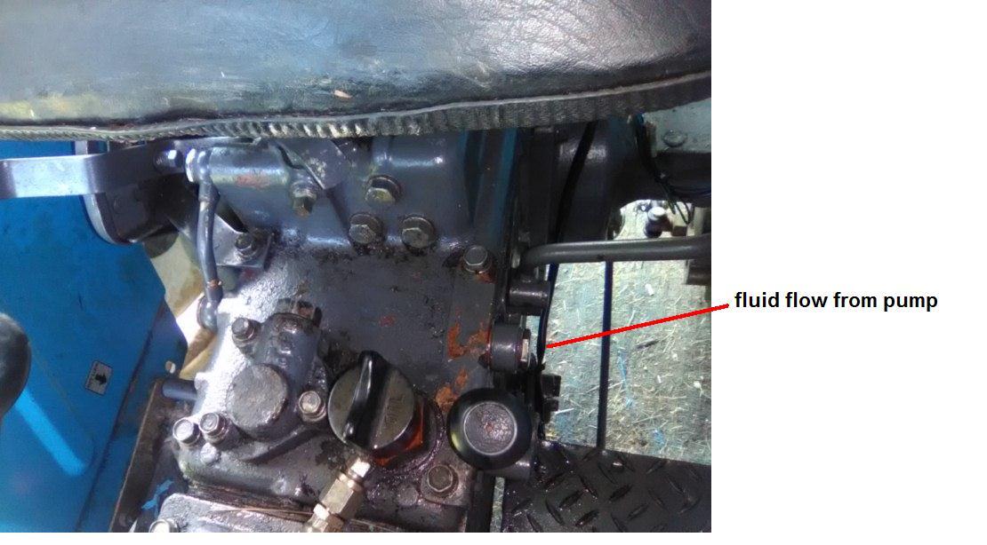 Mitsubishi D2350 rear lift hydraulics -- Mitsubishi -- Page 1