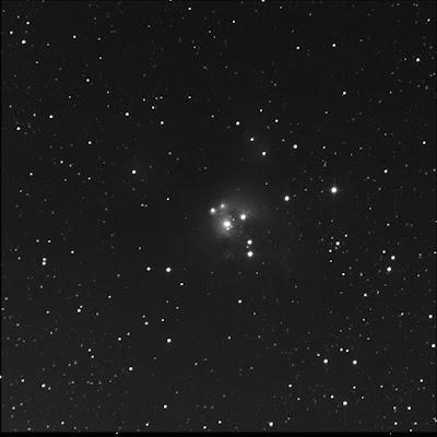 RASC Finest open cluster and nebula NGC 7129 luminance