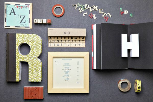 papercraft and lettering supplies and projects