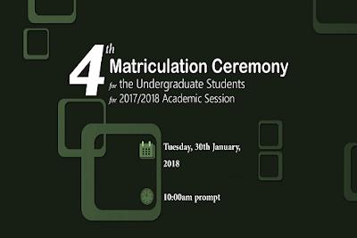 Sule Lamido University 4th Matriculation Ceremony Schedule [Undergraduates]