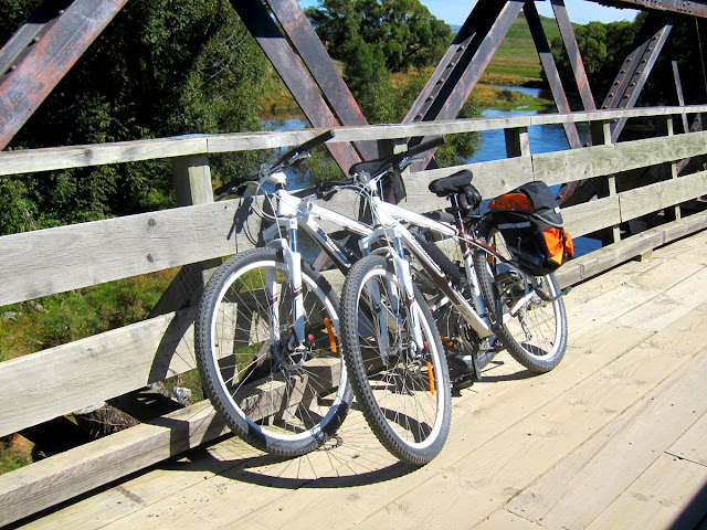 Our rented bikes on the Otago Rail Trail