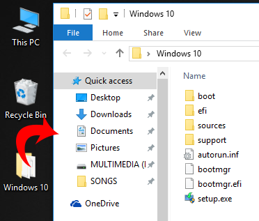 Windows 10 installation files