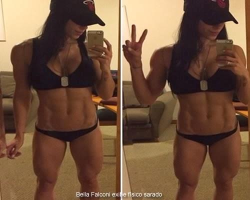 Bella Falconi exhibió su curada física