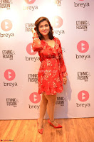 Mannara Chopra in deep neck Short red sleeveless dress Cute Beauty ~  Exclusive Celebrities Galleries 060.JPG