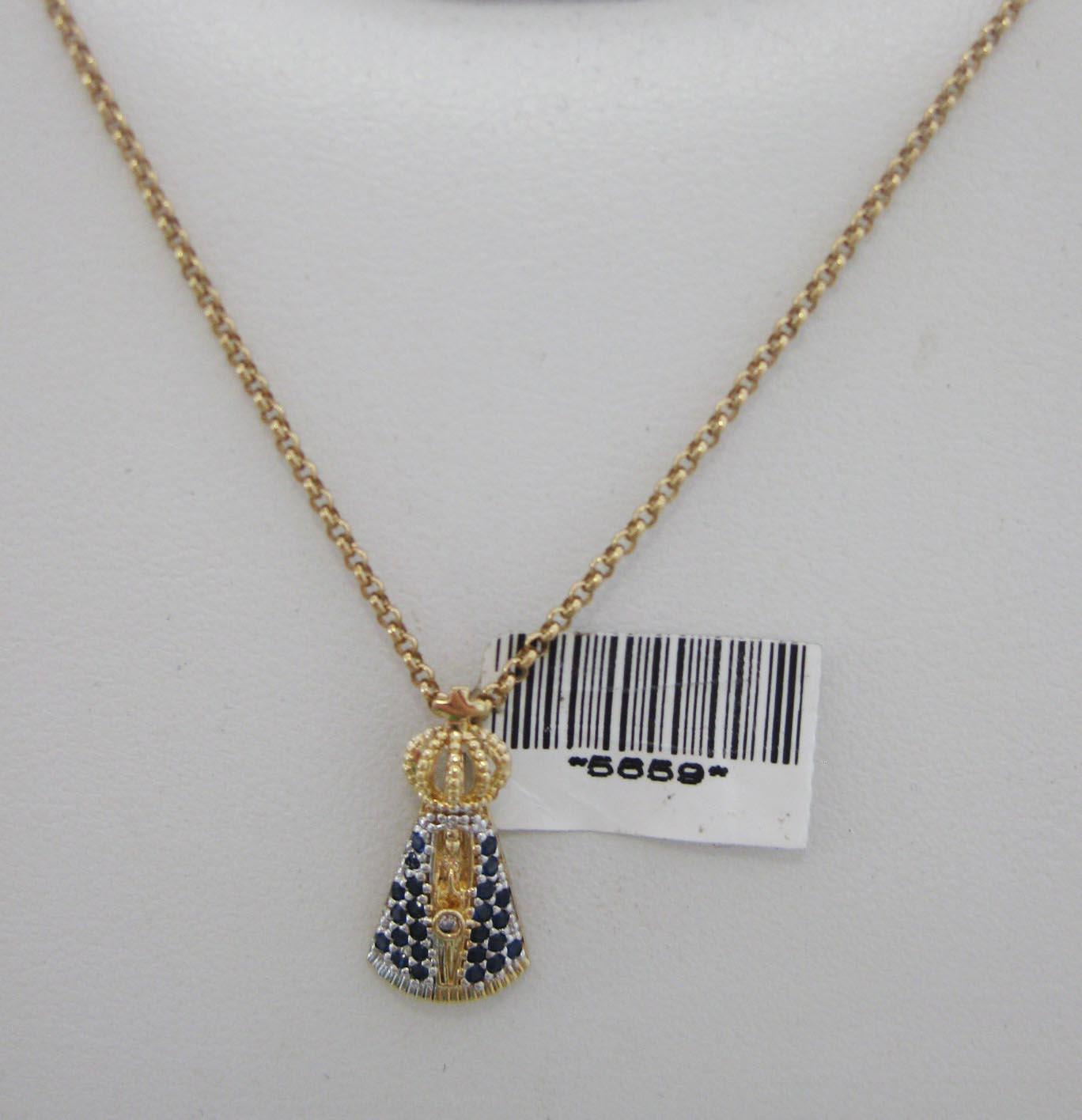Pingente Nossa Senhora Aparecida cravada em blue  R 194,00 + frete e7dd8c0f45