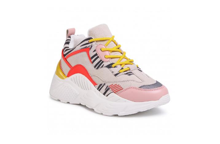 Sneakers femei de firma multicolori cu talpa groasa STEVE MADDEN
