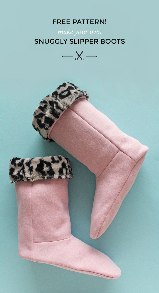 Tilly and the Buttons: Free Pattern! Make Your Own Snuggly Slipper Boots