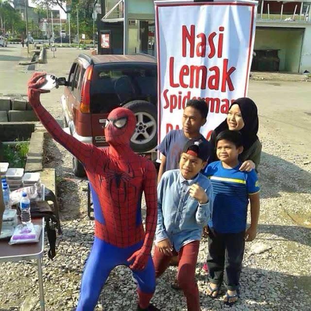 Nasi Lemak om Spidermen Laku Keras di Malaisya
