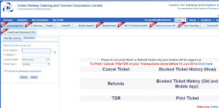 IRCTC Tatkal Reservation Time Change as well as 50 % Refund