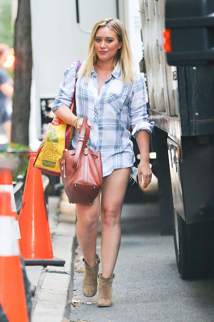 Hilary Duff – Leaving The Set of 'Younger' in New York City