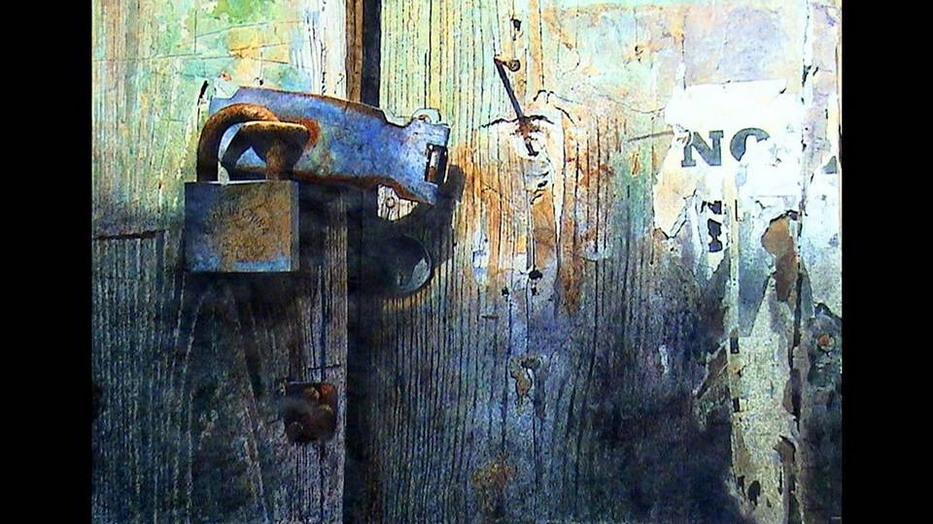 Cuadros modernos pinturas y dibujos cerrojos ventanas y - Pintura puertas madera ...
