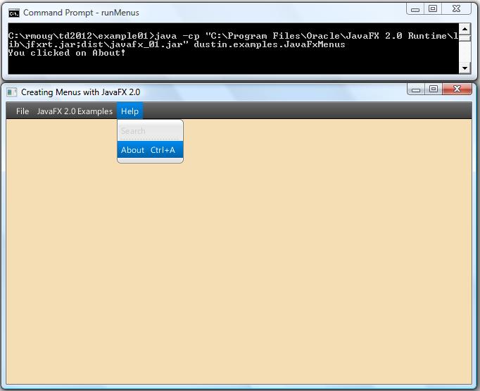 Pure Java) JavaFX 2 0 Menus - DZone Java