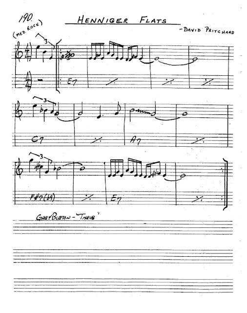 Partitura Saxofón David Pritchard