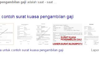contoh surat pengambilan gaji