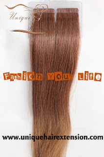 tape on ombre extensions