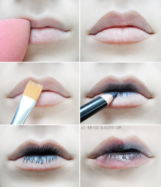 Ombre Lips, Gradient Lips liz breygel blogger tutorial step by step makeup plump full kylie jenner