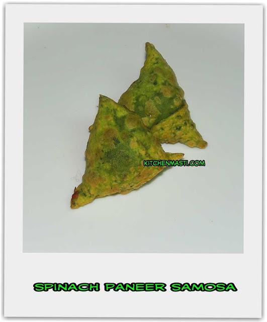 spinach paneer samosa