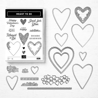 Stampin Up's Meant to Be stamp Set and Be Mine Stitched Framelits Dies