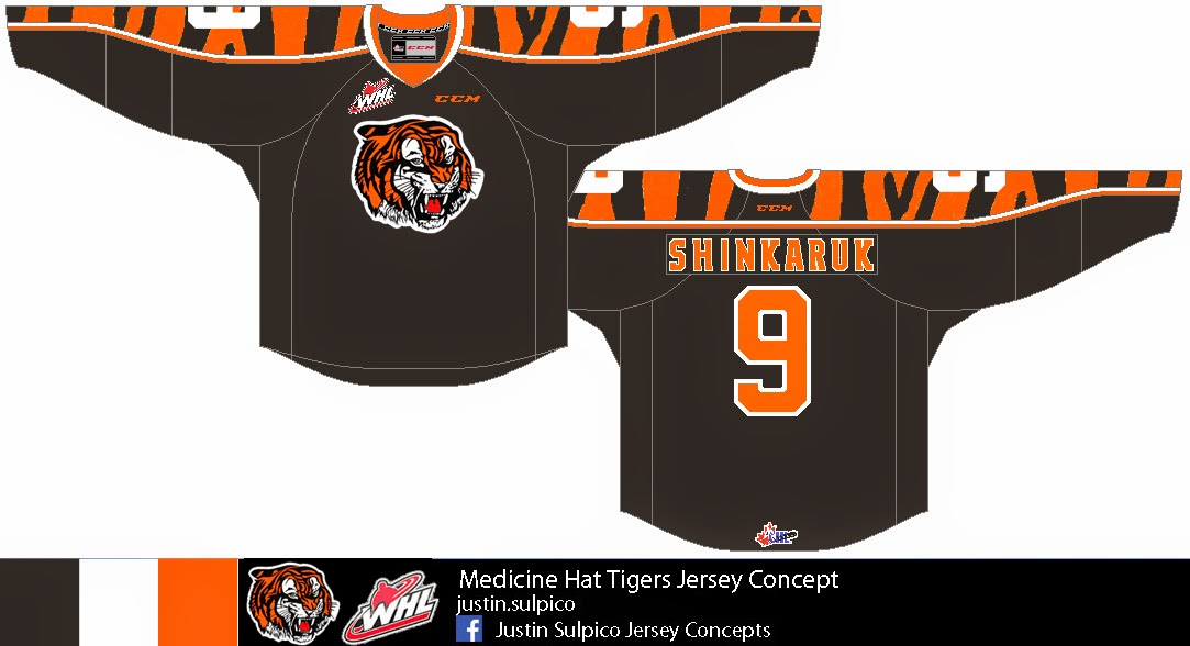 64c53cce1f9 Yay  The finale of this post comes from Justin and his Medicine Hat Tigers  concept. While the heritage of the Tigers should be respected