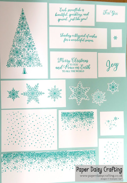 Snow is Glistening from Stampin Up