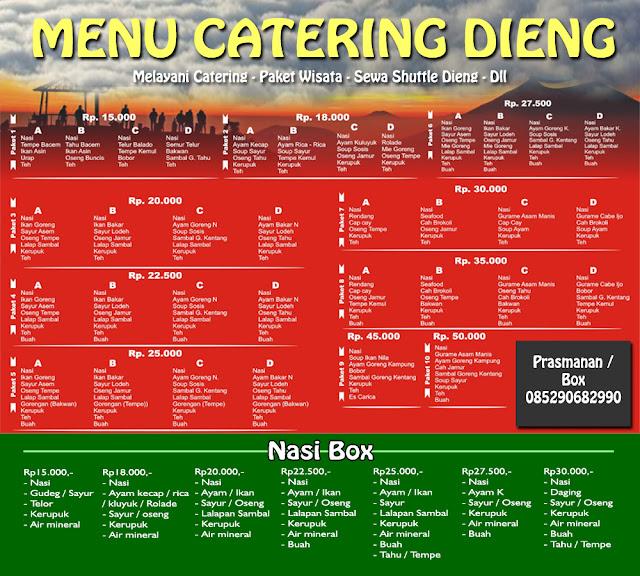 daftar catering di dieng