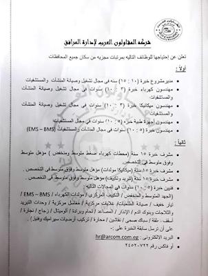 وظائف شركة المقاولون العرب