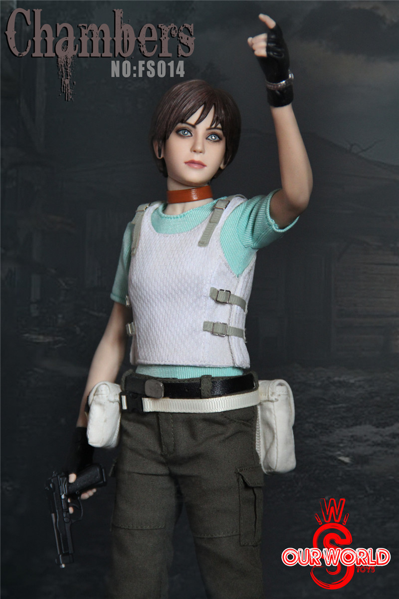 1//6  female figure head sculpt  Rebecca Chambers   Biohazard Resident Evil toys