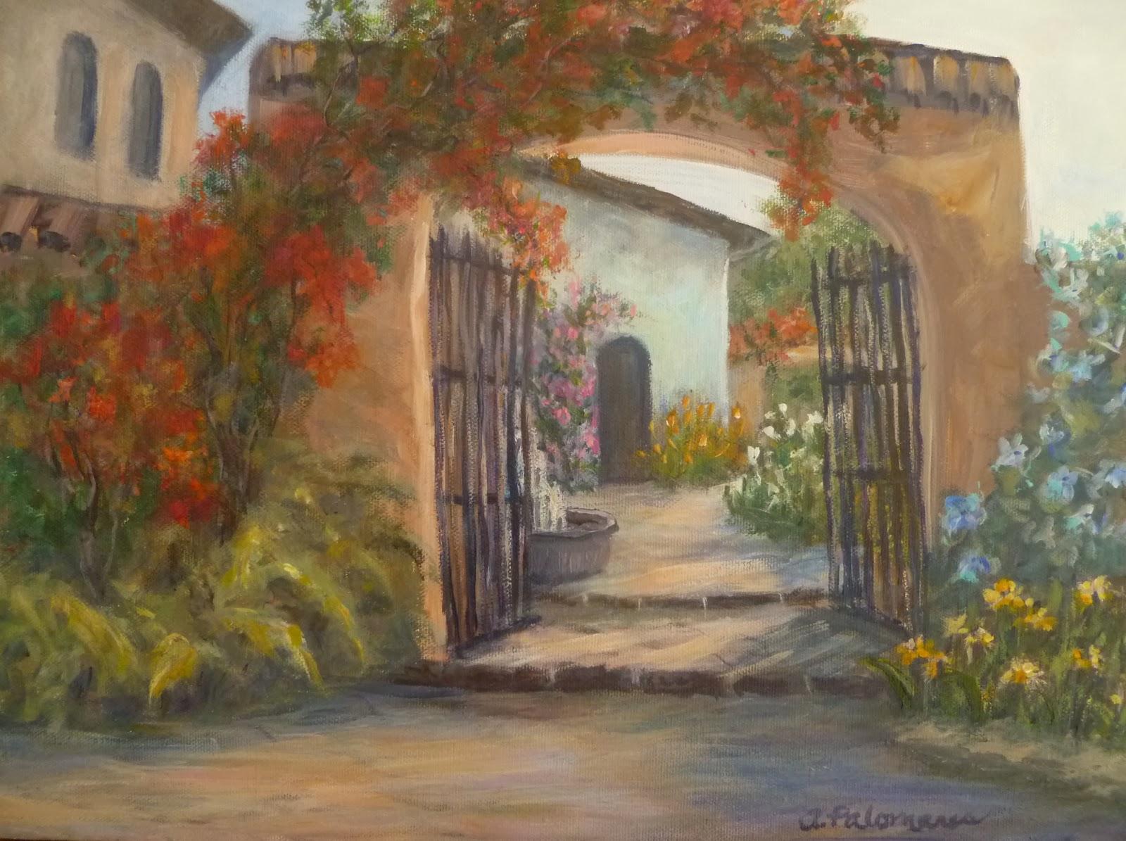 Italian Garden Paintings Amber Palomares Fine Art