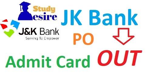JK Bank PO Admit Card 2019 Download (1450) PO & Banking Associates Hall Ticket