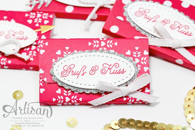 Valentinstag Verpackung mit Stampin Up - Liebe Grüße
