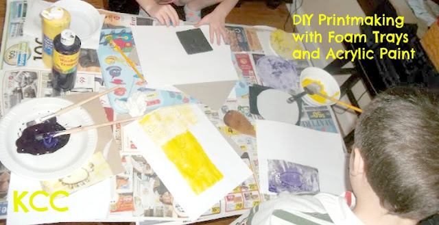 Homeschool Art Project How to make your own Prints with foam veggie trays
