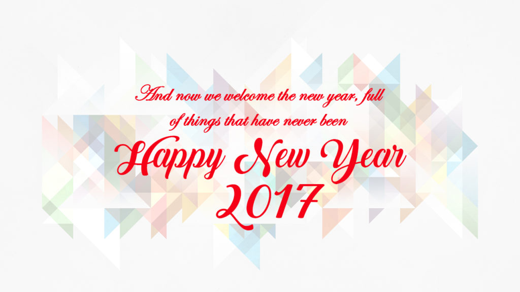Happy New Year 2017 Quotes wishes Images for Friends - ONE GREETING