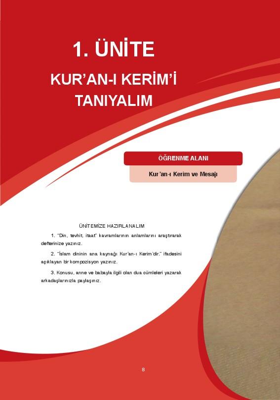 7. Sınıf Kuranı Kerim Ders Kitabı Cevapları Ata Yayınları Sayfa 8