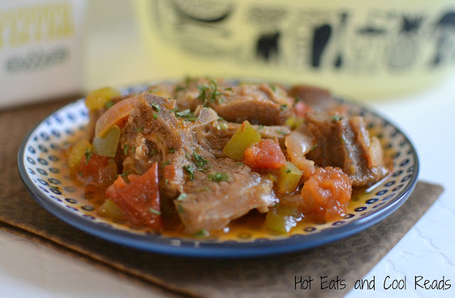 Slow simmered to perfection! Tender and flavorful! Also delicious with beef and serve over rice for a complete meal! Stewed Goat with Tomatoes and Peppers Recipe from Hot Eats and Cool Reads