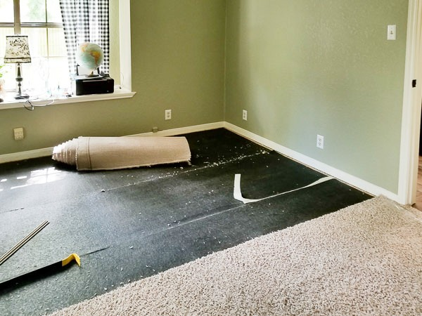 removing carpet