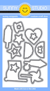 Sunny Studio Stamps: Stars & Stripes Patriotic 4th of July die set