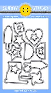 Sunny Studio Stamps: Stars & Stripes Patriotic 4th of July die set