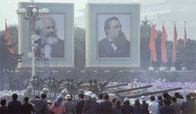 Portraits of Marx and Engels, Tiananmen Square
