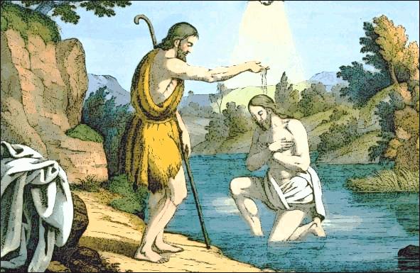 El Bautismo de Cristo por Juan