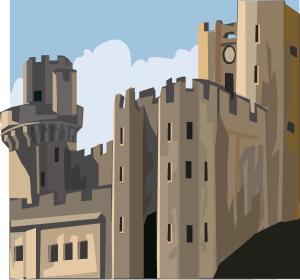 château fortifié (dessin)