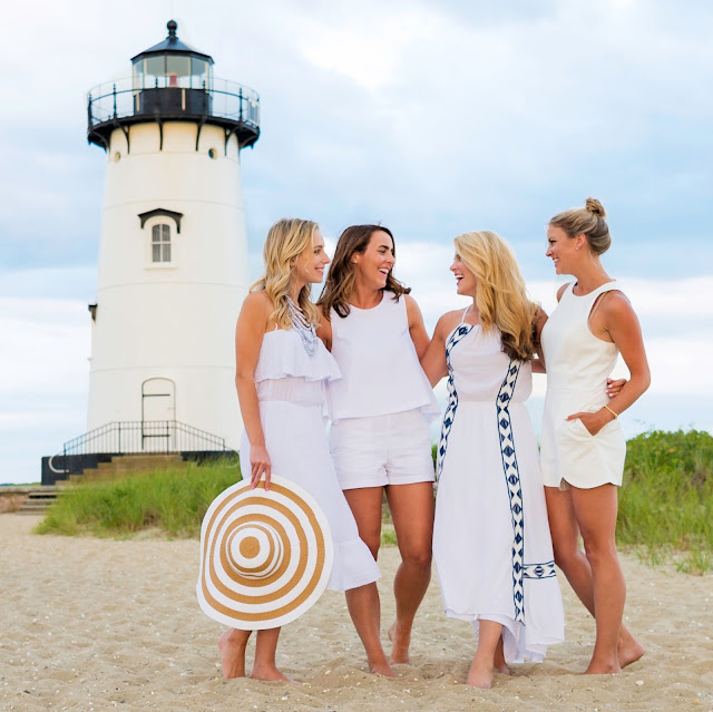 ella moss dress at edgartown lighthouse on marthas vineyard