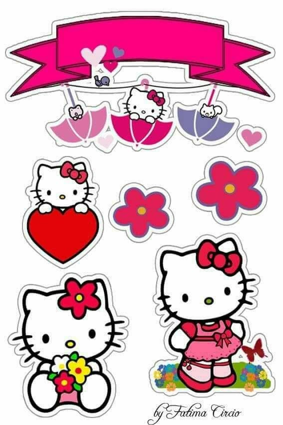 Hello Kitty Free Printable Cake Toppers Oh My Fiesta In English